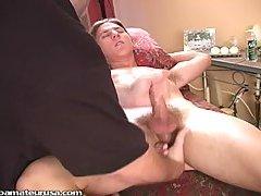 Professional cock massage & cumshot