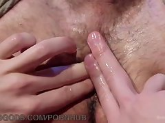 Hogtied muscly guy gets fucked