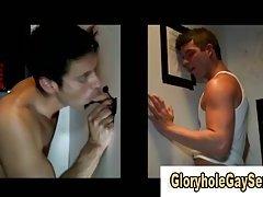 Dumb jock gets gay bj