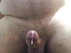 Squirt prostate orgasm with dildo massage handsfree