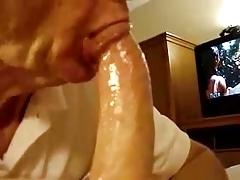 Old mature grandpa sucking a nice big dick