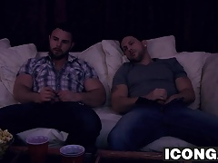Roman Todd rides Nick Sterling big cock after movie night
