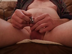 Finger in peehole and cum.MOV