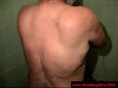 Dilf mature bears taking a fresh shower