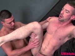 Anally screwed stud loves spreading his ass