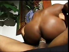 Naughty black guy bends over and takes a big ebony