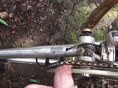 Foreskin Cock torture bicycle