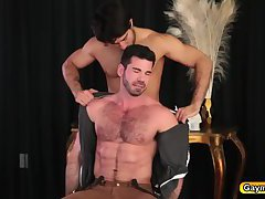 Diego sucks Billys hairy dick and fuck his ass