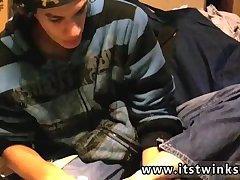 Cute guy licking his own feet