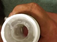 pierced cock cum in fleshlight