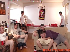Blowjobs and barebacking with hot ass students at the dorm
