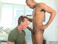 Black poofter Izzy drills a horny daddy's butt as hard as he can