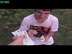 Straight twink sex eatcum outdoor for money
