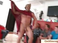 Horny stripper gives his cock