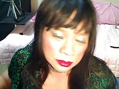 Asia In Green Dress & Bustier