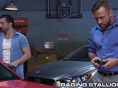 RagingStallion Cocky Client Gets Cock