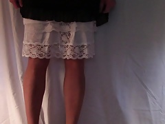 LAYERED SLIPS AND A LITTLE PANTYHOSE ASS