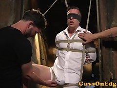 Blindfolded stud bound and edged
