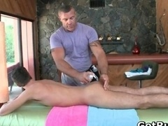 Sexy petite guy gets amazing gay massage