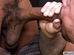 Horny stud takes two dicks