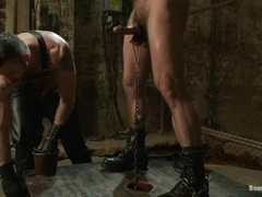 Dirk Caber enjoys being tormented and fucked by Morgan Black