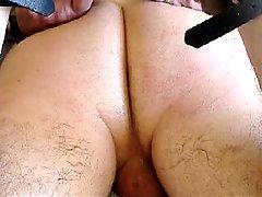 Bound guy dildo tortured