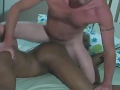 Interracial on Bed