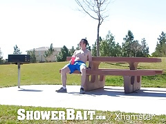 ShowerBait - Str8 guy gets his ass pounded after shower