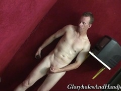 Lewd queer Jeremy Wood can't stop sucking this gloryhole dick