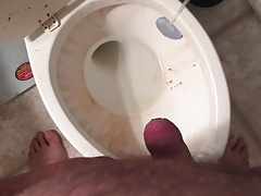 Close Up Of Uncut Cock Pissing