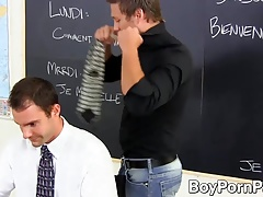 Big dicked student slides his cock in teachers tight asshole