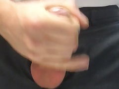 Me get naughty in the office and jerk my cock to cum