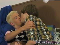 Blonde teen enjoys cock sucking