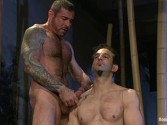Nick Moretti gets his ass drilled while being shackled