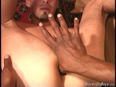 Brunette twink Ivan sucks two cocks and gets his ass slammed