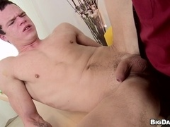 Gabriel sucks and rubs a dick and welcomes it in his gay bumhole