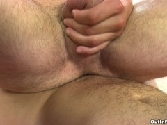 Well-built gay lets his slutty BF suck and ride his dick