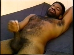 Ebony gay bear blows and gets his bushy butt slammed
