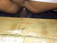 A cumdump  for straight dick at a Gloryhole