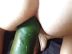 Huge dildos stretching my ass