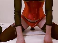 Horny Anal training Ride