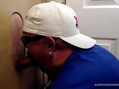 Sucking Biker Cock At The Gloryhole