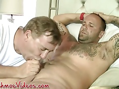 Horny hunks Joe and Duncan Dixxx have a dick sucking session