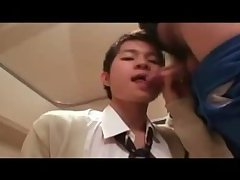 Jap Student Flirting And Jacking Off