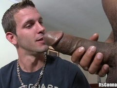 Handsome queer Logan White plays with a BBC and gets fucked hard