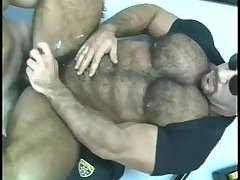 Naughty Cops Threeway Sucking