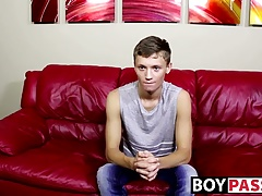 Matthew shows his adorable twink body and jerks off his cock