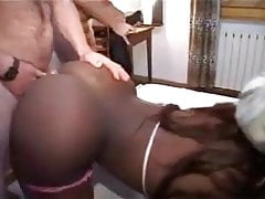 Big white dick in black boy that was before his forearms
