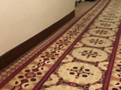 Guy in hotel hall
