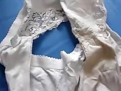 Jerk off -To my wife's panties 1